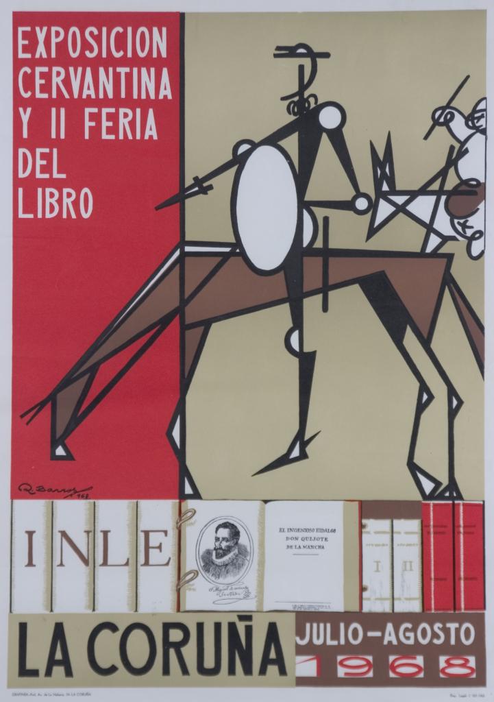 Cartel II Feira do Libro da Coruña e Exposición Cervantina